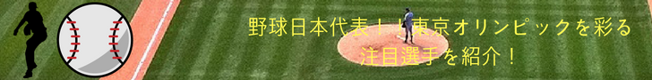 野球日本代表!東京オリンピックを彩る注目選手を紹介するブログ